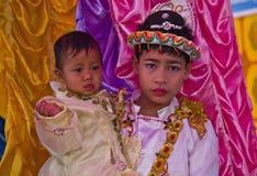 Shinbyu: Trasformandosi in un principiante nel Myanmar Fotografie Stock Libere da Diritti