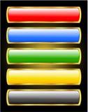 shine золота рамки butons бесплатная иллюстрация
