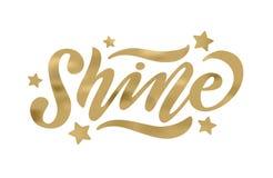 shine Иллюстрация вектора слова влияния золота Вдохновляющий дизайн для печати на тройнике, карточке иллюстрация вектора