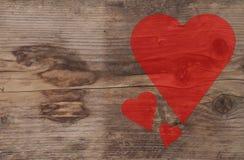 shine иллюстрации сердца предпосылки красный Стоковое Изображение