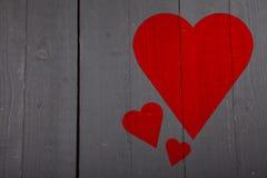 shine иллюстрации сердца предпосылки красный Стоковые Фотографии RF