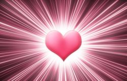 shine сердца Стоковое Фото