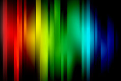 Shine. Colour spectrum of colours on a black background vector illustration