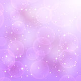 Shine background. Shiny violet background with stars and blurry lights, illustration Royalty Free Stock Image