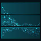 Shine background. Vector background of glowing light effect stars. Shining glitter particles allocated on neutral background. Dust sparks. Space for your message Royalty Free Stock Photography