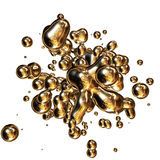 Shine of blobs. Blobs of the gilded colour on white background Royalty Free Stock Image