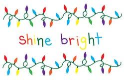 Shine Bright Christmas Lights Stock Image