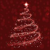 Shine christmas tree - vector. Shine christmas tree - stock vector stock photography