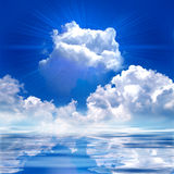 Shine cloud. Shining effect appear from the cloud Stock Images