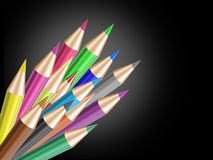 Shine color pencil Stock Images