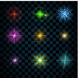 Shine colorful stars Royalty Free Stock Images