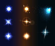 Shine disco color stars 1 Royalty Free Stock Image