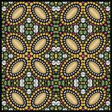 Shine fashion pattern from brilliant stones, rhinestones. Royalty Free Stock Images