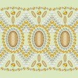 Shine fashion pattern from brilliant stones, rhinestones. Royalty Free Stock Photos