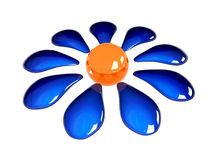 Shine flower. 3D design. Excellent quality stock illustration