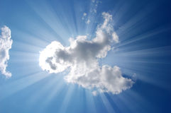 Shine form high cloud in sky. Royalty Free Stock Photo