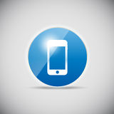 Shine glossy computer icon vector illustration Stock Photography