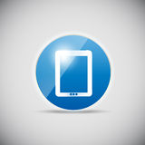Shine glossy computer icon vector illustration Royalty Free Stock Images