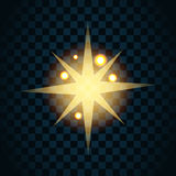 Shine gold star with glitter and golden sparkle icon 1 Stock Images