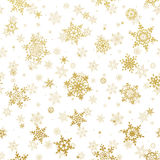 Shine golden snowflakes. EPS 10. Shine golden snowflakes with gold glitter texture and sparkle on white background. EPS 10 vector file included Stock Photography