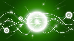 Shine HD green waves wallpaper Stock Photography