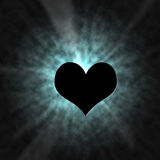 Shine Heart Lighting Effect. Cool shining heart effect with rays of light Stock Image