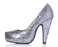 Shine High heel shoes Isolated Stock Photography