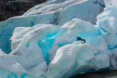 Shine ice glow of  Nigardsbreen Glacier (Norway) Stock Photos