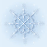 Shine of a magnificent snowflake Royalty Free Stock Image
