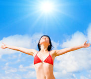 Shine me, my sun Royalty Free Stock Photography