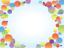 Shine in the middle of color bubbles / funny illustration Royalty Free Stock Image