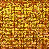 Shine mosaic background made of golden cubes. Royalty Free Stock Image