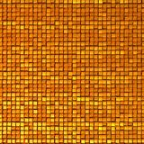 Shine mosaic background made of golden cubes. Stock Photo