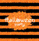 Shine Orange Wallpaper for Happy Halloween Party Stock Photography