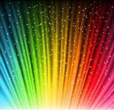 Shine rainbow background with stars. Vector. Illustration eps10 Royalty Free Stock Images
