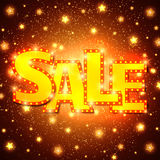 Shine sale on shining stars background Stock Photography