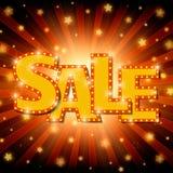Shine sale on shining stars background Stock Photos