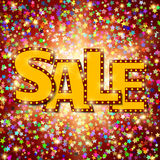 Shine sale on shining stars background Royalty Free Stock Photos