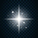 Shine star sparkle icon 20a. Shine star with glitter and sparkle icon. Effect twinkle, glare, glowing, graphic light sign. Transparent glow design element on Royalty Free Stock Image