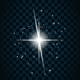 Shine star sparkle icon 19a Royalty Free Stock Images