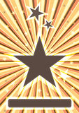 Shine Stars_eps. Illustration of abstract shine stars, focus center composition Stock Images