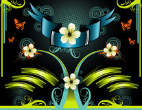 Shine tape floral vector  Royalty Free Stock Photo