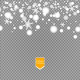 Shine white snowflake with glitter isolated on transparent background. Christmas decoration with shining sparkling light. Effect. Vector eps 10 Royalty Free Stock Images