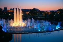 Shined fountain Stock Images