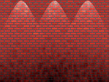 Shined red brick wall. For presentation stock illustration