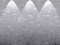 Shined white brick wall. For presentation stock illustration