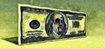 shiner банкнота 100 долларов бесплатная иллюстрация