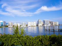 Shines Brightly. The Sarasota skyline shines brightly in the afternoon sun Stock Photo