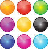Shiney Ball Icons. A Selection of Glossy Ball Icons Royalty Free Stock Photography