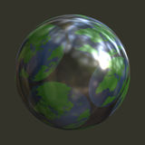 Shiney earth design. Shiney Illustration of view of earth Royalty Free Stock Photos